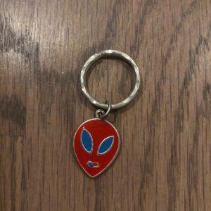 Vintage 90s red alien ring